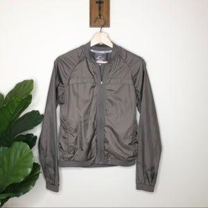Nike Dri-fit brown bomber zip up jacket